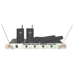 Nady 401Xquad Lt/O/E4Fhe 4-Channel Professional Vhf Wireless Lavalier Microphone System