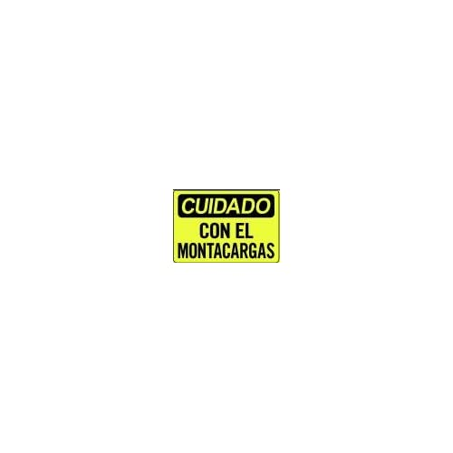 CUIDADO CON EL MONTACARGAS 10x14 Heavy Duty Indoor/Outdoor Plastic sign