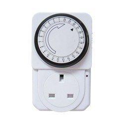 King So 24-Hour Mechanical Electrical Plug Program Timer Power Switch Energy Saver New