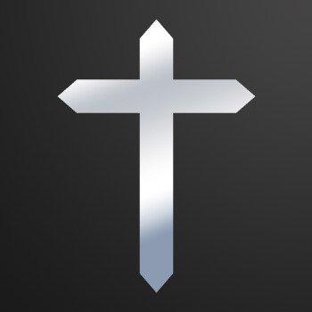 Cross christian symbol trinity... Chrome Mirror (09 X 6.5 inch) ZK648