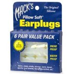 Mack's Silicone Earplugs - White - 6 pair