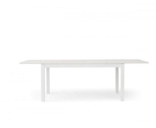 TABLES&CHAIRS tavolo bianco rettangolare allungabile legno frassino 553 160x90x76