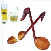 New Fashion Note Tea Spoon with Tea Strainer/Stirrer/Infuser/Filter Function-Color Random