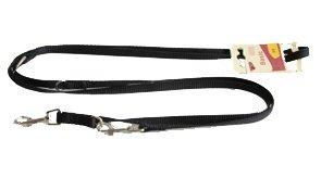 Hundeleine Führleine Nylon schwarz, 200cm / 10mm