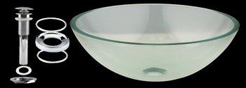 Buy Glass Sinks Clear w/green tint Glass, Havasu Clear green tint Glass Vessel Sink Round (Renovator's Supply Sinks, Plumbing, Sinks)