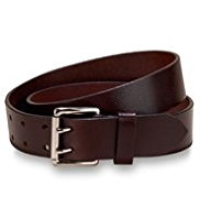 Leather Double Prong Belt