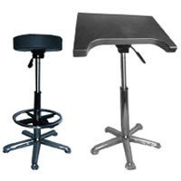 Savage Complete Posing Kit, Pneumatic Posing Stool with Foot Rest & Pneumatic Posing Table, 250 lbs Capacity