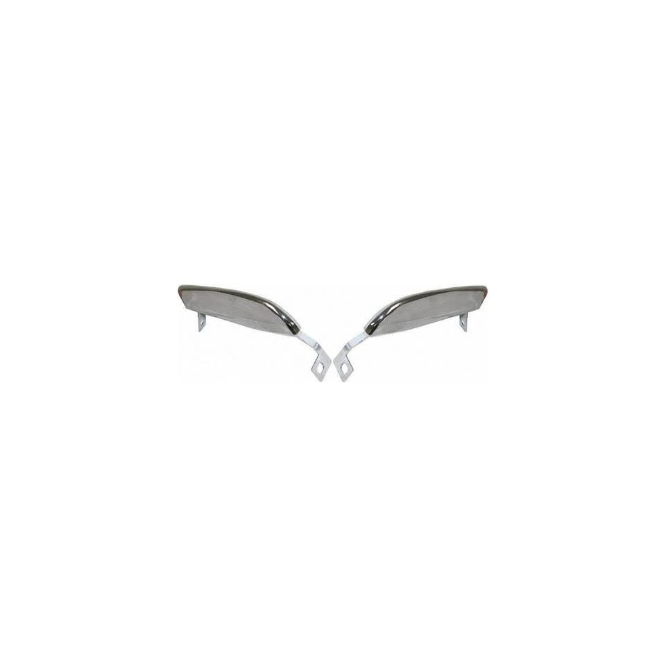 67 68 FORD MUSTANG FRONT BUMPER GUARD (PASSENGER SIDE = DRIVER SIDE), Pair Chrome (1967 67 1968 68) F00017102 C7ZZ17996B