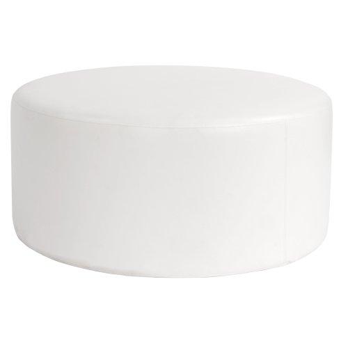 Howard Elliott K132-190 36-Inch Avanti Ottoman, White, Round