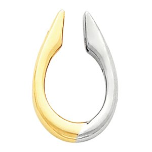Enhancer 14K Yellow/White Gold Two Tone Pendant Enhancer