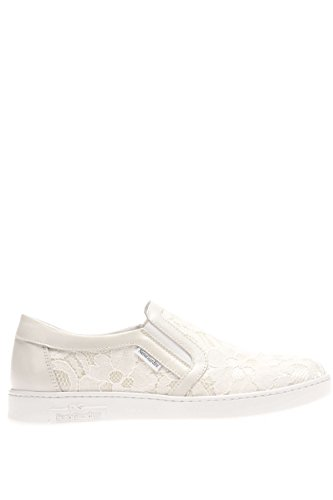 P615271D-702.Sneaker slip on macramè.Ivory.37