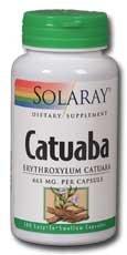 Solaray Catuaba Bark Capsules, 465 mg, 100 Count