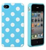 Generic Carrying Case for iPhone 4/4s - Non-Retail Packaging - Blue/White