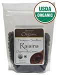 Organic Thompson Seedless Raisins 16 oz (454 grams) Pkg