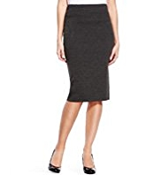 Knee Length Knitted Pencil Skirt