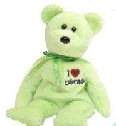 TY Beanie Baby - COLORADO the Bear (I Love Colorado - State Exclusive) - 1