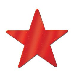 Foil Star Cutout (red) Party Accessory  (1 count)