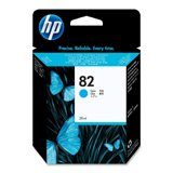 HP - CH566A (HP 82) Ink, 28mL, Cyan - Sold As 1 Each - Built-in chip lets you monitor ink levels without guesswork.