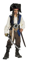 Deluxe Captain Jack Sparrow Costume - Small (Captain Jack Sparrow Child Deluxe Costume)