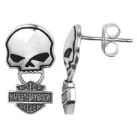 Harley Davidson® Willie G pattern SINGLE earring STUD Men's style HDE0235 by MOD®