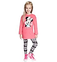2 Piece Cotton Rich Minnie Mouse Tunic & Leggings Outfit