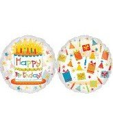 "26"" Foil Happy Birthday Balloon 1 per package"