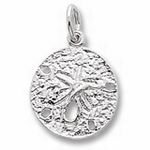 Rembrandt Charms Sand Dollar Charm - Gold Plated