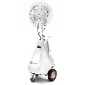 Cool-Off Tahitian-Breeze Portable Outdoor Misting Fan w/High Pressure (1000 psi) Pump - Commercial Grade