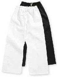 Black Belt Master Student Elastic Waist Martial Arts, Karate, Taekwondo Deluxe Poly/Cotton Pants (Black, 000 fits 3