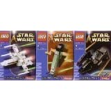 LEGO Star Wars Mini Star Wars LEGO Sets 6963 - X-Wing Fighter 6964 - Boba Fett's Slave 1 And 6965 - TIE Interceptor...