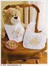 Bucilla 45394 Stamped Cross Stitch Kit, 8.5-Inch By 14-Inch Bib Pair, Noah'S Ark front-840549