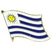 Metal Lapel Pin - World National Flag - Uruguay (World Flag Pins compare prices)