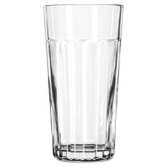 Paneled Tumblers, 24 Oz, Clear, Jumbo Cooler Glass front-325438