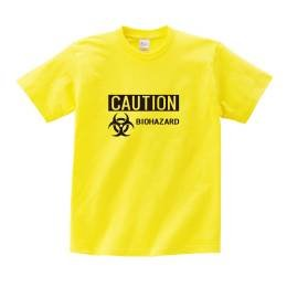 バイオハザードロゴプリントTシャツ イエロー 160