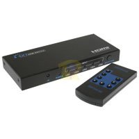 5 Port HDMI Switch - 3D Output Device with Remote Control