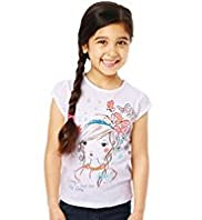 Autograph Pure Cotton Pretty Girl Print T-Shirt