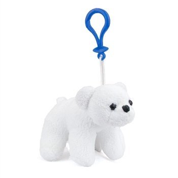 Stuffed Polar Bear Clip Toy Keychain By Wild Life Artist