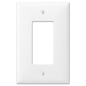 Oversized White Plastic - 1 Rocker Wallplate