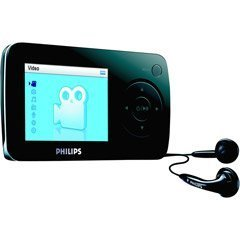 Philips SA60 4 GB Flash Video MP3 Player with FM Tuner (Black)