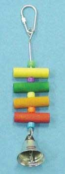 Cheap 6 1/2″ Bird Toy With Dowel, Plastic & Bell (B002DZK12C)