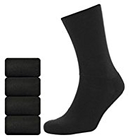 4 Pairs of Ultimate Comfort Socks with Silver Technology