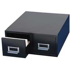 MMF Industries : Card Cabinet File, 2-Drawer, 3000 Card Cap, 4