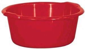 Aluminium et plastique bassine ronde 11 l rouge b11 for Bassine en plastique