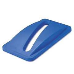 -- Slim Jim Paper Recycling Top, 20 3/8 X 11 3/8 X 2 3/4, Dark Blue