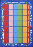 "Joy Carpets Kid Essentials Early Childhood Celebrations Calendar Rug, Multicolored, 7'8"" x 10'9"""