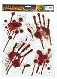 Bloody Handprints & Blood Splats Halloween Clings Decoration