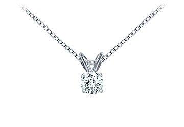 Platinum Round Diamond Solitaire Pendant - 0.25 CT. TW.