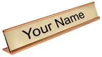 Custom Name Plate for Desk - Gold - 2\