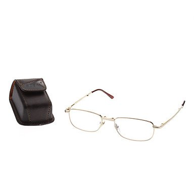 Xs Kq Old Man Foldable Full Frame Presbyopic Glasses Reading Eyewear (Assorted Lens Prescription)