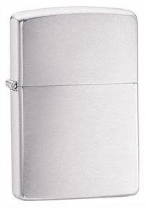 Zippo Cigarette Lighter, Brushed Chrome, Personalised FREE, Birthday, Wedding, Anniversary Gift
